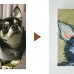 写真を送るだけで素敵なペット肖像画が完成1
