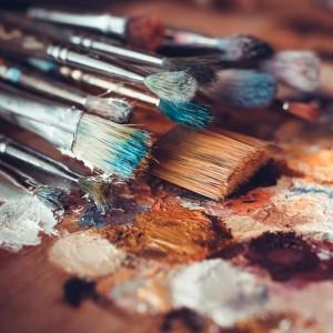 ペット 絵画・肖像画に使用する道具 筆パレット02