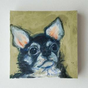 ペット 絵画・肖像画 パステル犬S