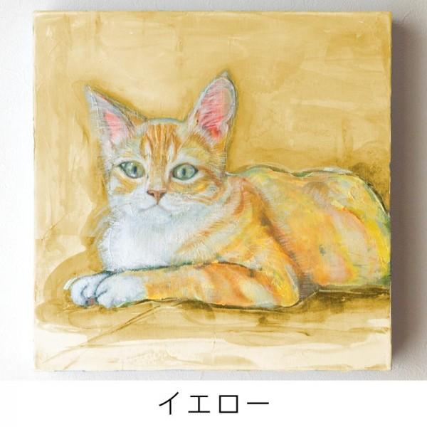 ペット 絵画・肖像画 ナチュラルM イエロー