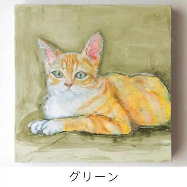 ペット 絵画・肖像画 ナチュラルM グリーン
