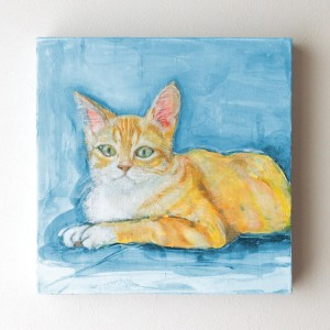 ペット 絵画・肖像画 パステルM&L猫