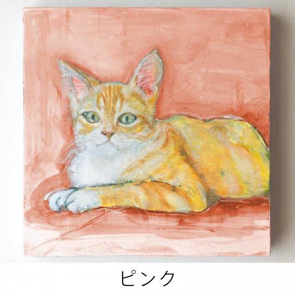 ペット 絵画・肖像画 ナチュラルM ピンク