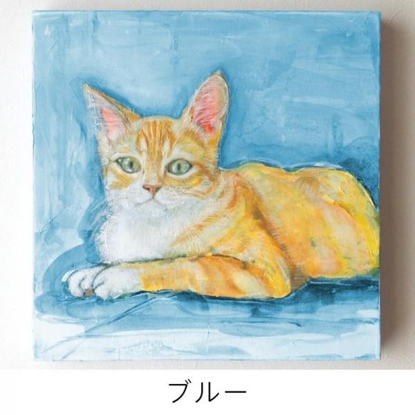 ペット 絵画・肖像画 ナチュラルM ブルー