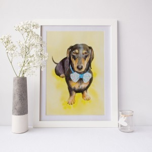 水彩画犬イメージ画像スクエア