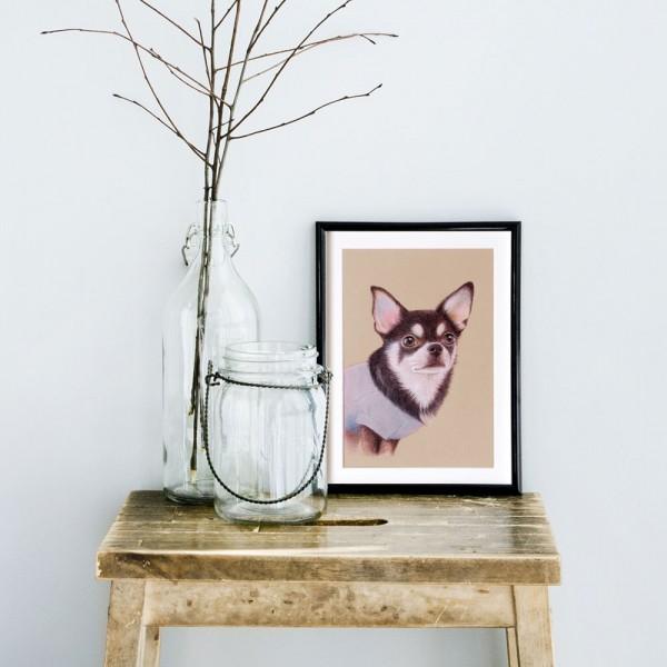 色鉛筆画犬イメージ画像